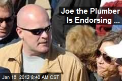 Joe the Plumber Is Endorsing ...