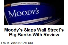 Moody's Slaps Wall Street's Big Banks With Review