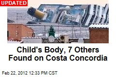 Child's Body, 3 Others Found on Costa Concordia