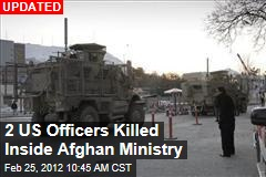 2 Americans Killed Inside Afghan Ministry