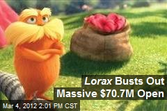 Lorax Busts Out Massive $70.7M Open