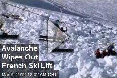 Avalanche Wipes Out French Ski Lift