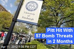 Pitt Hit With 57 Bomb Threats in 2 Months