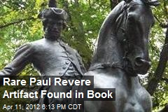 Rare Paul Revere Artifact Found in Book
