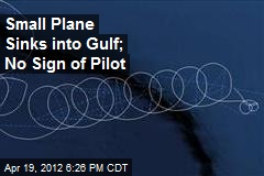 Small Plane Sinks into Gulf; No Sign of Pilot
