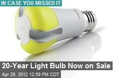 20-Year Light Bulb Goes on Sale