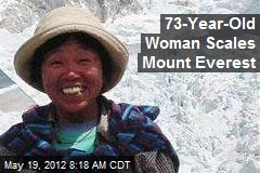 73-Year-Old Woman Scales Mount Everest