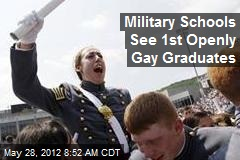Military Schools See 1st Openly Gay Graduates