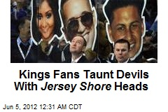 Kings Fans Taunt Devils With Jersey Shore Heads