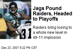 Jags Pound Raiders, Headed to Playoffs