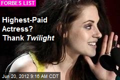 Highest-Paid Actress? Thank Twilight