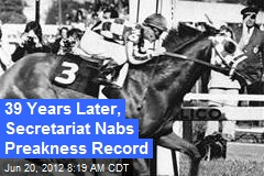 39 Years Later, Secretariat Nabs Preakness Record