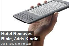 Hotel Removes Bible, Adds Kindle
