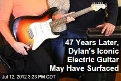47 Years Later, Dylan's Iconic Electric Guitar May Have Surfaced