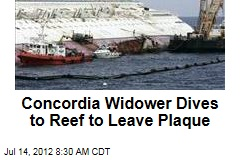 Concordia Widower Dives to Reef to Leave Plaque