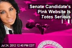 Senate Candidate's Pink Website Is Totes Serious