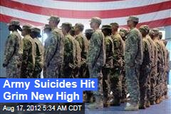 Army Suicides Hit New High in July