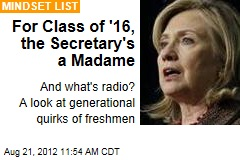 For Class of '16, the Secretary's a Madame