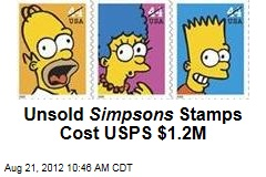 Unsold Simpsons Stamps Cost USPS $1.2M