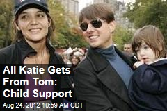All Katie Gets From Tom: Child Support