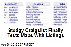 Stodgy Craigslist Finally Tests Maps With Listings