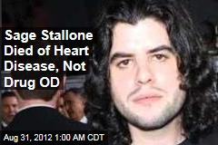 Sage Stallone Died of Heart Disease, Not Drug OD