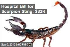 Hospital Bill for Scorpion Sting: $83K