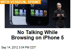 No Talking While Browsing on iPhone 5