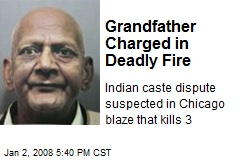 Grandfather Charged in Deadly Fire