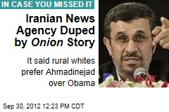 Iranian News Agency Duped by Onion Story
