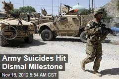Army Suicides Hit Dismal Milestone
