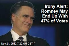 Irony Alert: Romney May End Up With 47% of Votes