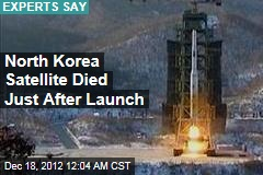 North Korea Satellite Now Space Junk