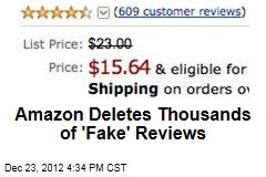 Amazon Deletes Thousands of 'Fake' Reviews
