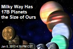 Mliky Way Has 17B Planets the Size of Ours