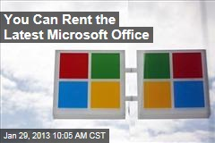 You Can Rent the Latest Microsoft Office