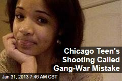 Chicago Teen's Shooting Called Gang-War Mistake