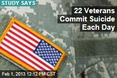 22 Veterans Commit Suicide Each Day