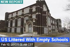 US Cities Packed With Empty Schools