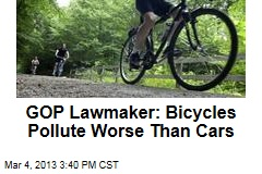 GOP Lawmaker: Bicycles Pollute Worse Than Cars