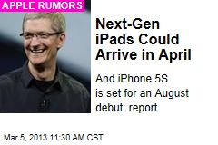 Next-Gen iPads Could Arrive in April