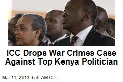 ICC Drops War Crimes Case Against Top Kenya Politician
