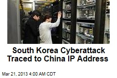 South Korea Cyberattack Traced to China IP Address