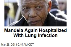 Mandela Hospitalized With Lung Infection