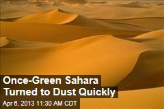 Once-Green Sahara Turned to Dust Quickly