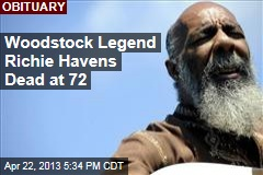 Woodstock Legend Richie Havens Dead at 72
