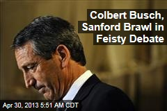 Sanford Clobbered in Feisty Debate