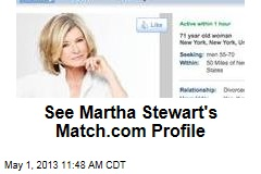 See Martha Stewart's Match.com Profile