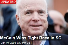 McCain Wins Tight Race in SC