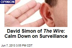 David Simon of The Wire : Calm Down on Surveillance
